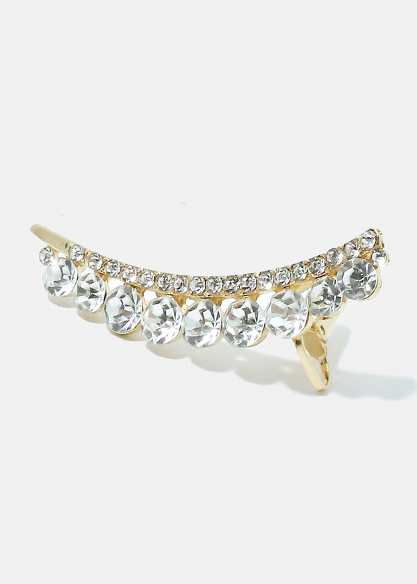 Rhinestone Clip-On Earcuff