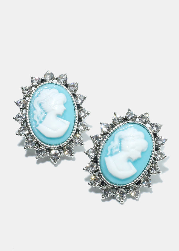 Vintage Cameo Women Earrings