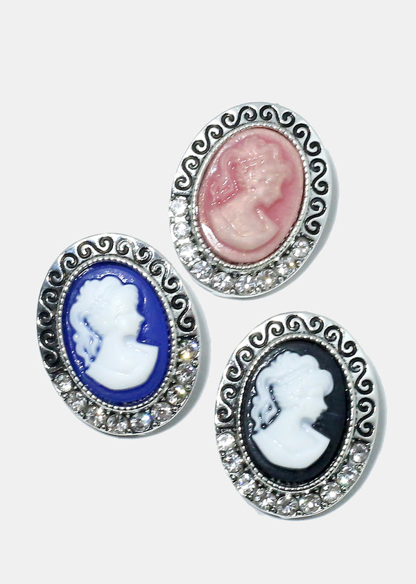 Antique Cameo Colorful Earrings