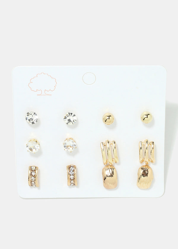 6-Pair Multi Designed Earrings