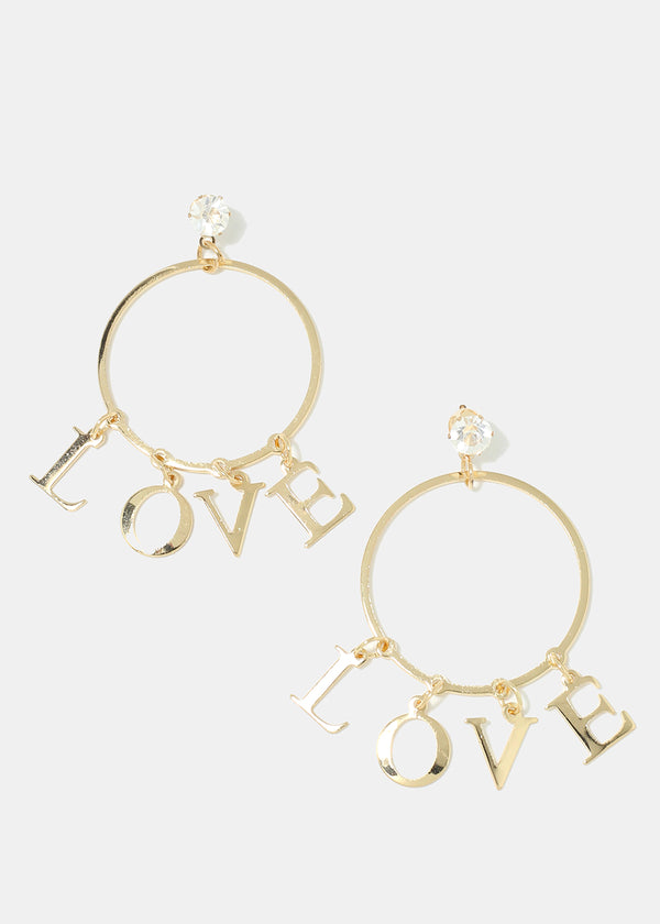 """LOVE"" Dangle Earrings"