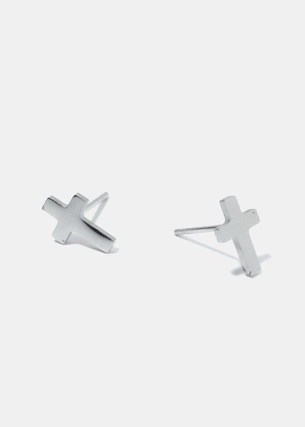 2-Pair Cross Stud & Dangle Earrings