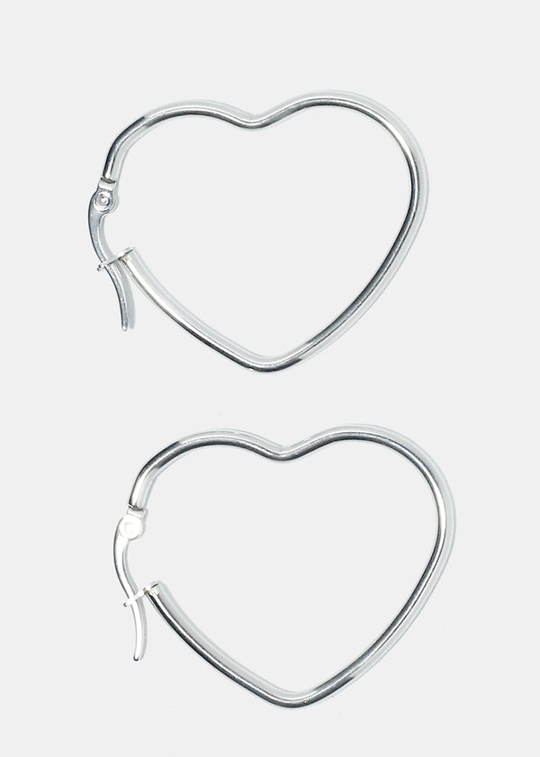 2-Pair Heart Shaped Earrings