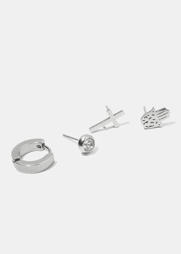 4-Piece Unique Earring Set