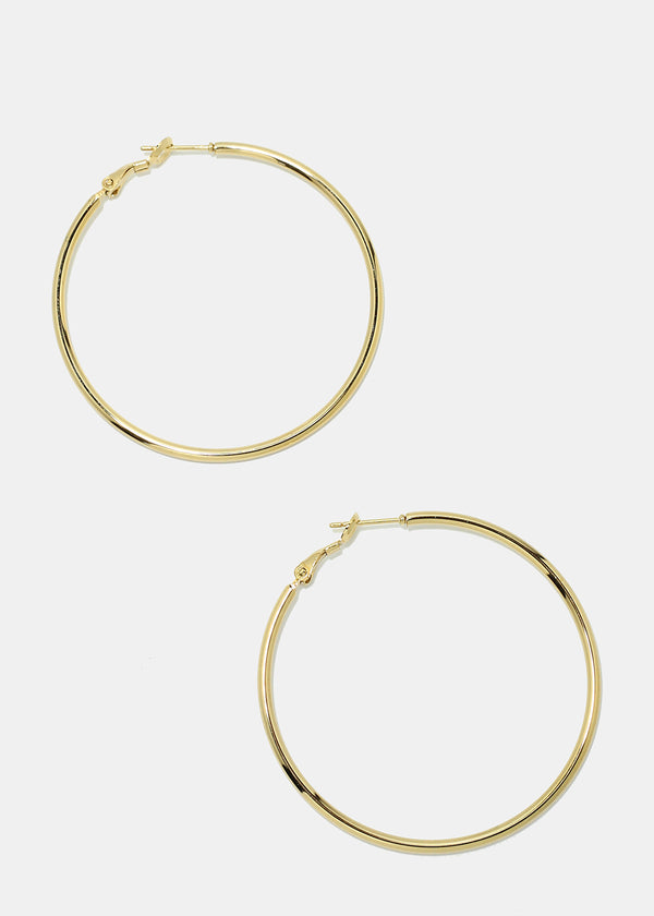 50-MM Metal Hoop Earrings