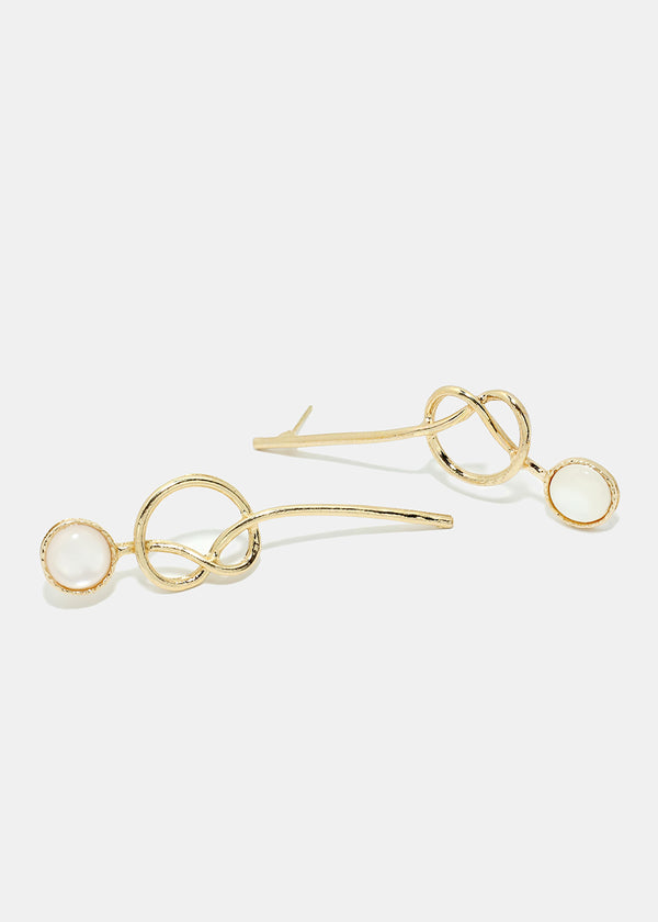 Geometrical Loop Earrings