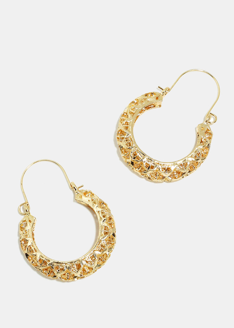 Textured Half Hoop Earrings