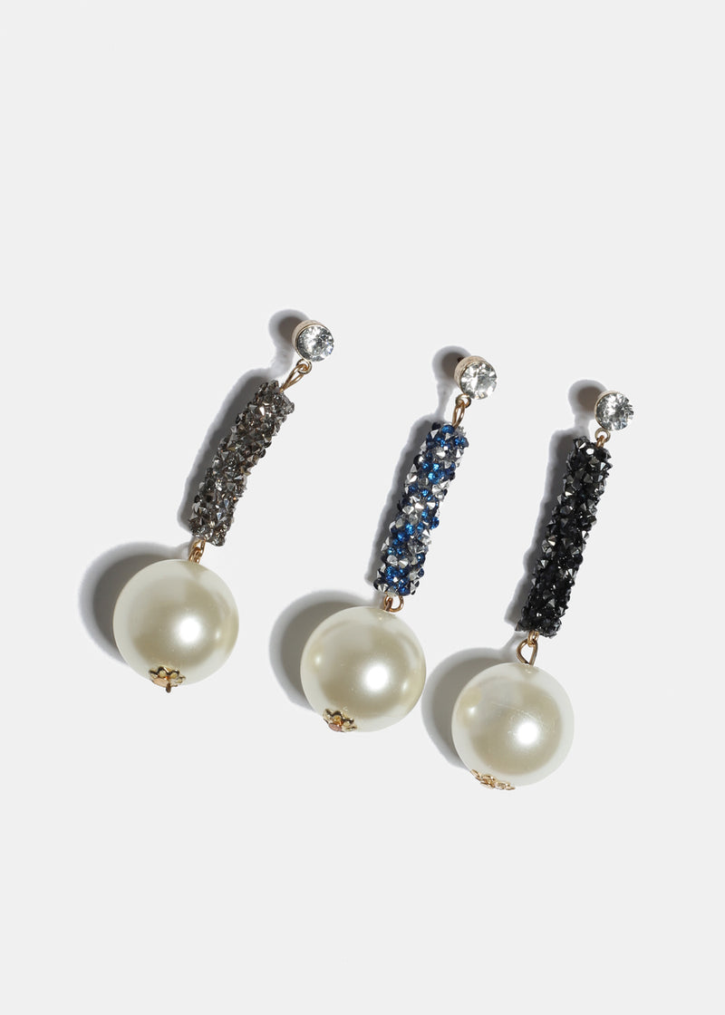 Pearl & Gemstone Drop Earrings