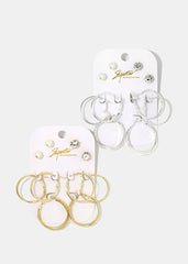 5-Pair Stud & Small Hoop Set