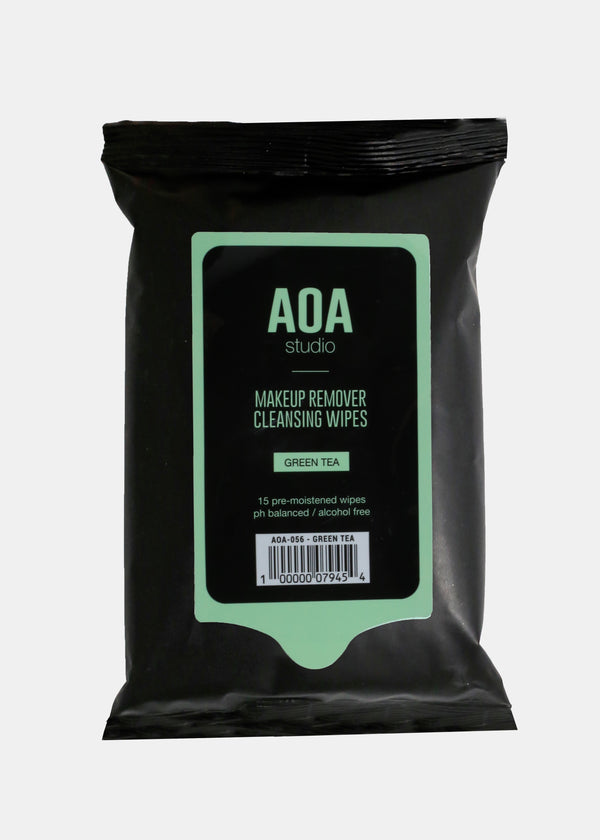 AOA Makeup Remover Wipes - Green Tea