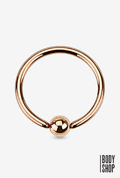 "316L Surgical Steel Captive Bead Ring - Rose Gold 16GA 3/8"" 3mm"