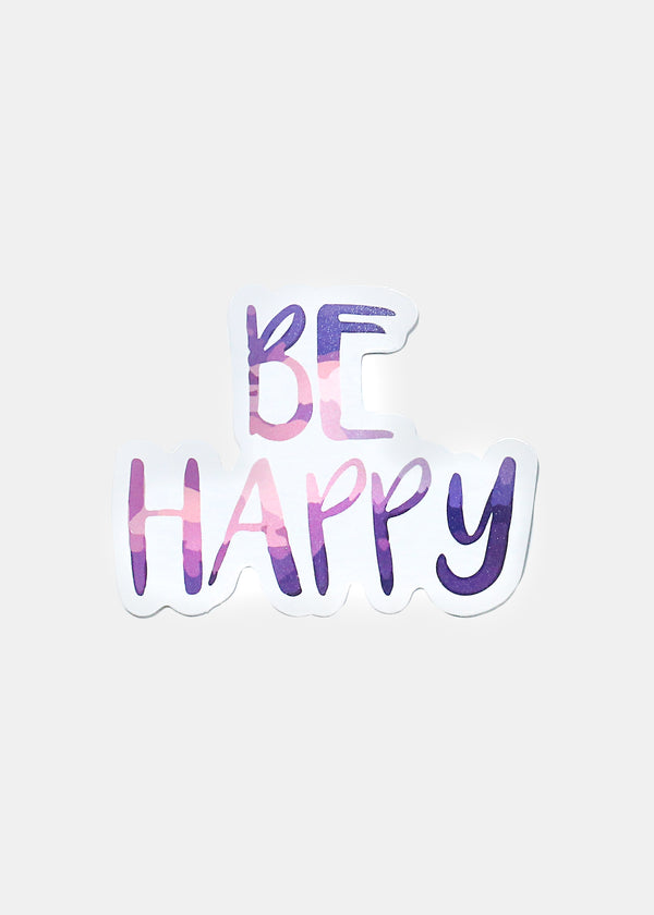 Oki Sticker- Be Happy