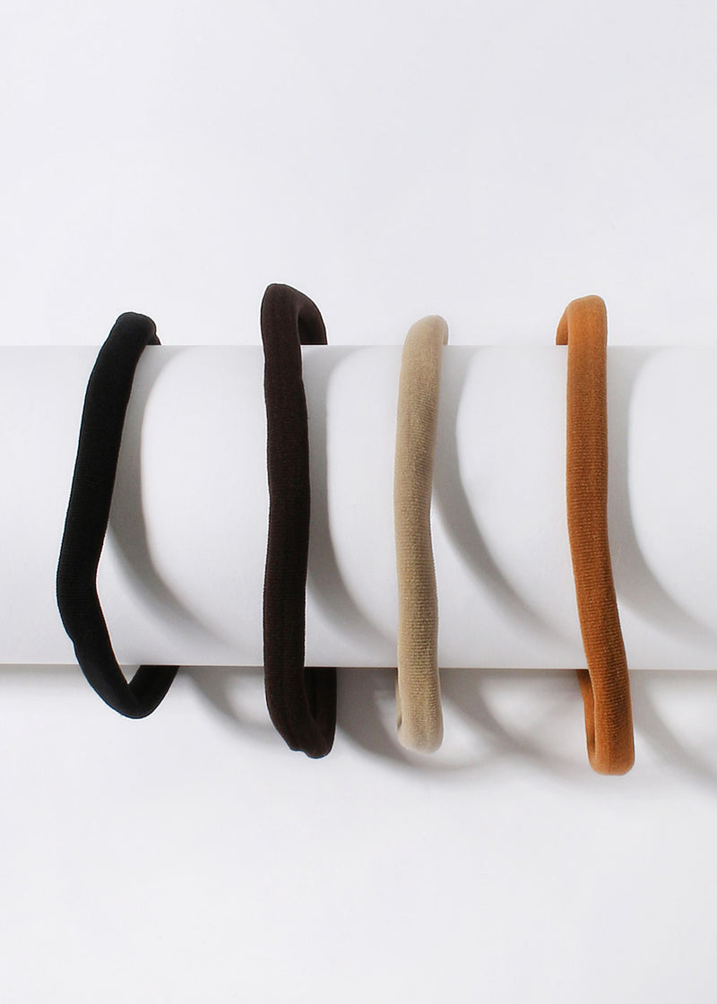 4 Piece Neutral Hair Ties