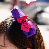 Two Toned Bow Stretchy Headband