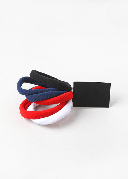 6 Piece Solid Large Hair Ties – Shop Miss A 720ffd9ff08