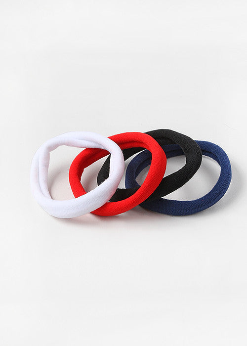 6 Piece Solid Large Hair Ties