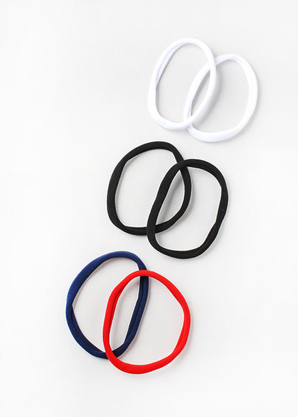 6 Piece Large Solid Hair Ties