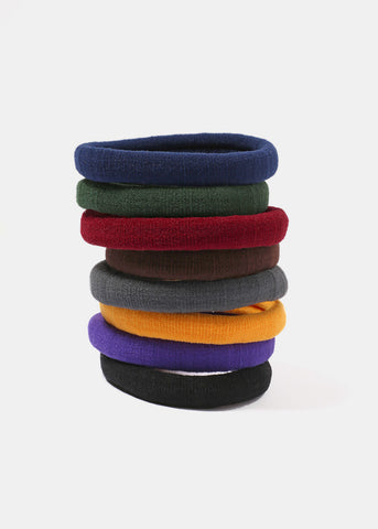 8 Piece Bold Color Hair Ties
