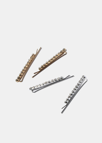 2 Piece Rhinestone Hair Pins