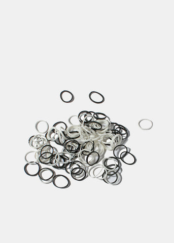 500 Piece Black & White Hair Elastics