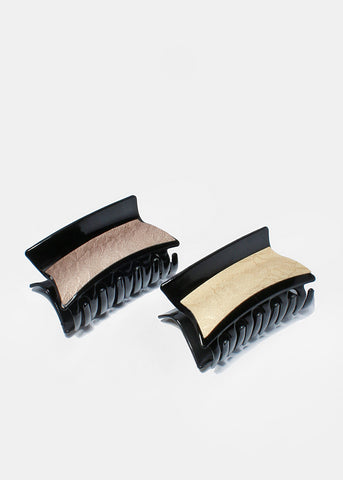 Faux Leather Hair Clip