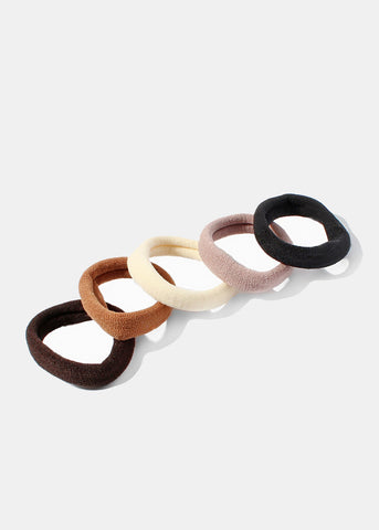 12 Piece Small Neutral Hair Ties