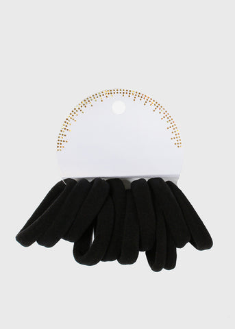 10 Pair Black Hair Ties