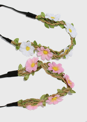 Braided Vine Flower Headband