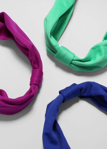Solid Color Mesh Knot Headband