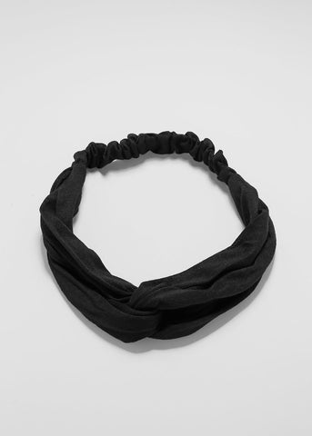 Black Linked Stretch Headband