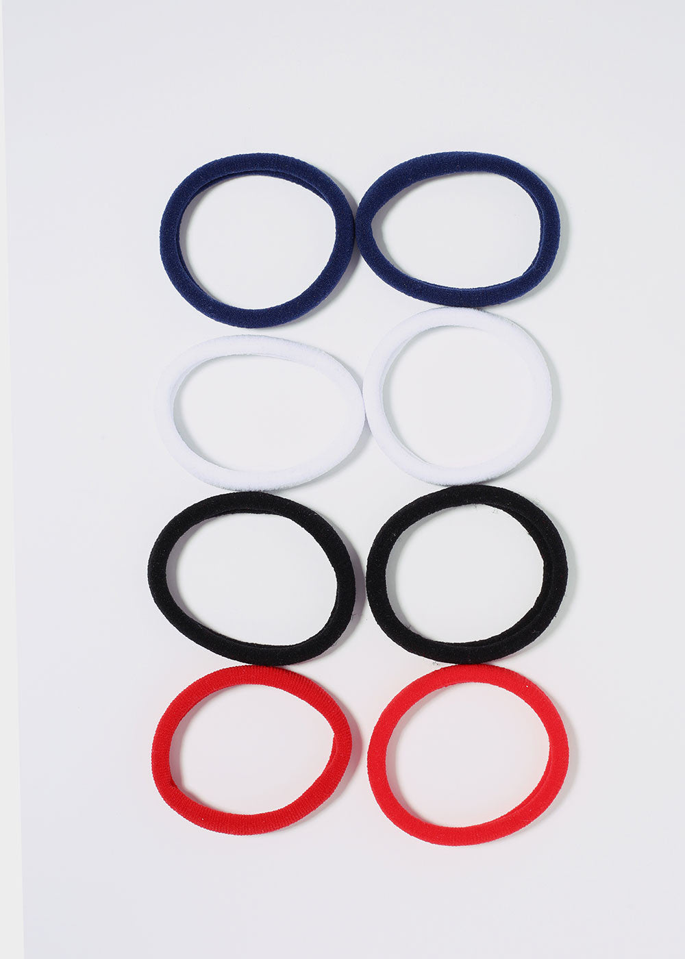 8 Piece Multi-Color Soft Hair Ties