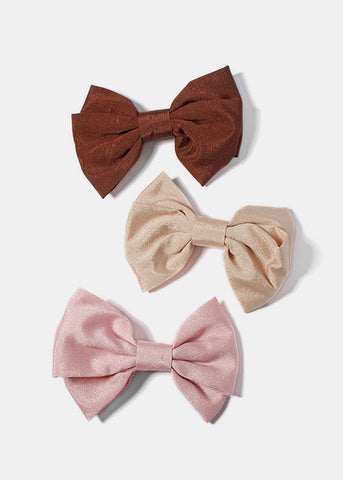 Neutral Bow Hair Clip