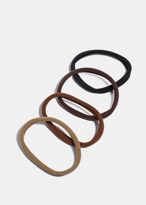 6 Piece Large Soft Hair Ties