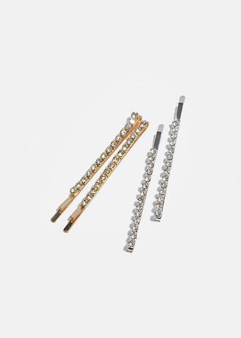 6 Piece Rhinestone Hair Pins