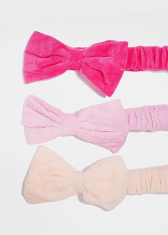 Solid Color Plush Bow Headband