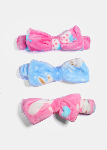 Multi-Print Plush Bow Headband
