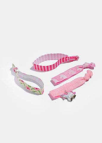 4 Piece Unicorn Hair Ties Set
