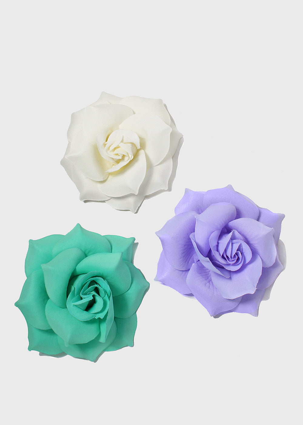White Garden Rose Hair white garden rose hair curling simulation silk flower heads