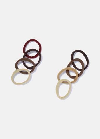 18 Piece Brown & Red Hair Ties