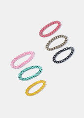 3 Piece Polka Dot Spiral Hair Ties