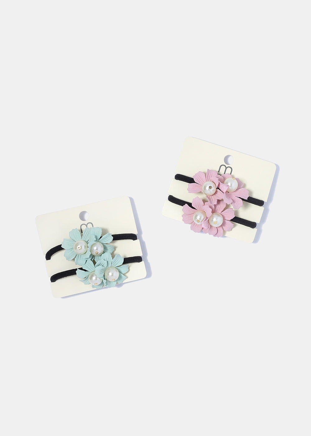 2 Piece Pearl Flower Hair Ties
