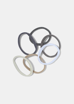 6 Piece Neutral Shimmer Hair Ties