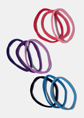 6 Piece Colorful Long Hair Ties