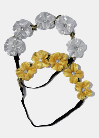 Metallic Flower Headband