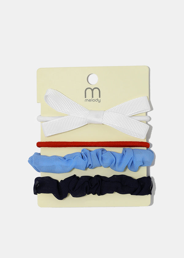 4 Piece Bow & Scrunchie Hair Ties