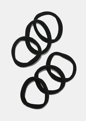 6 Piece Black & White Hair Ties
