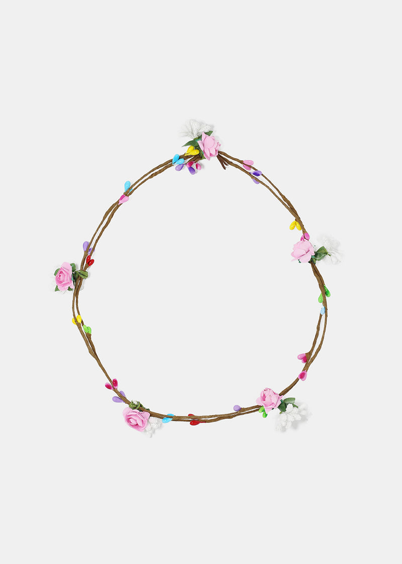 Small Rose Multi Flower Crown