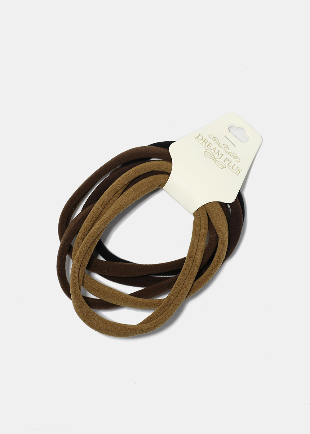 6-Piece Soft Neutral Tone Hair Ties