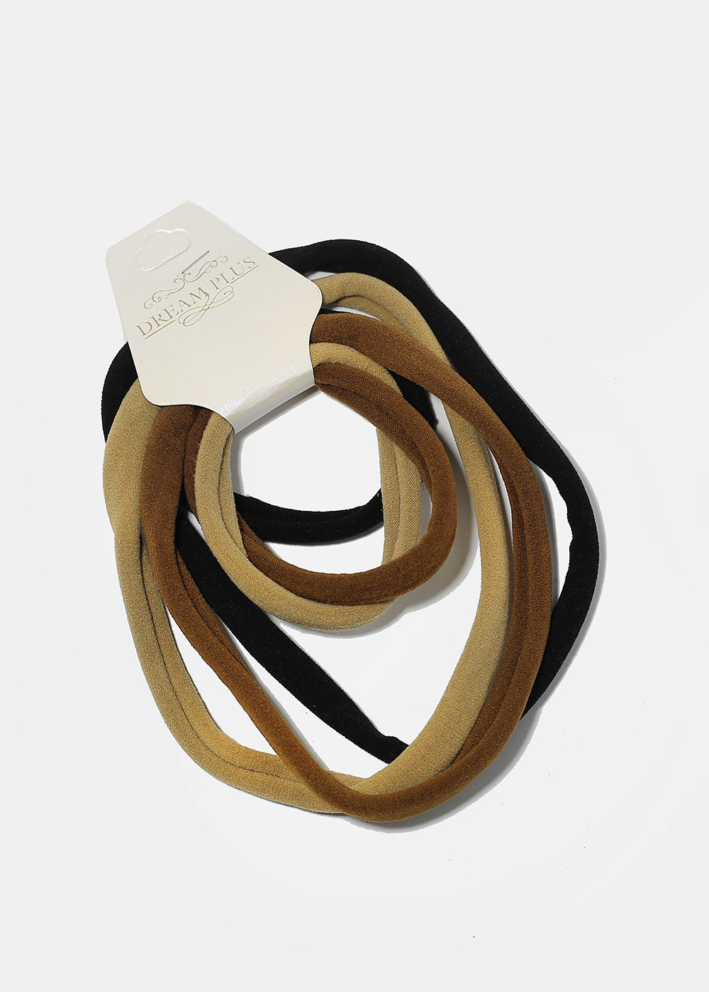 6-Piece Neutral Tone Multi-Size Hair Ties