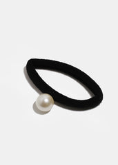4-Piece White & Black Pearl Hair Ties